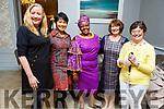 Catherine White, Linda Flanagan, Nogugu Mafu, Breda Hurley and Adrian Gibson enjoying the International Womens Day celebrations at the Rose Hotel on Friday.