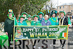 GREEN WOMAN: Member's of the Woman 2000 group having a great time at the Killorglin St Patrick's Day parade on Saturday l-r: Kathleen O'Malley, Mary Finton, June Hanafin, Teresa Macchia, Mary Sweeney, Bridget Foley, Kathleen Moriarty, Caitriona O'Malley and Noreen Lyons.