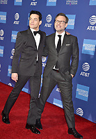 PALM SPRINGS, CA - JANUARY 03: Rami Malek (L) and Christian Slater attend the 30th Annual Palm Springs International Film Festival Film Awards Gala at Palm Springs Convention Center on January 3, 2019 in Palm Springs, California.<br /> CAP/ROT/TM<br /> &copy;TM/ROT/Capital Pictures