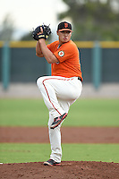 San Francisco Giants pitcher Eric Sim (56) during an Instructional League game against the SK Wyverns on October 17, 2014 at Giants Baseball Complex in Scottsdale, Arizona.  (Mike Janes/Four Seam Images)