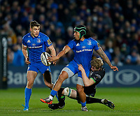4th January 2020; RDS Arena, Dublin, Leinster, Ireland; Guinness Pro 14 Rugby, Leinster versus Connacht; Joe Tomane of Leinster offloads the ball as he is tackled  - Editorial Use