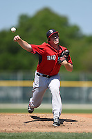 Boston Red Sox pitcher Teddy Stankiewicz during a minor league spring training game against the Baltimore Orioles on March 20, 2015 at Buck O'Neil Complex in Sarasota, Florida.  (Mike Janes/Four Seam Images)