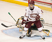 Colin White (BC - 18) - The visiting University of Vermont Catamounts tied the Boston College Eagles 2-2 on Saturday, February 18, 2017, Boston College's senior night at Kelley Rink in Conte Forum in Chestnut Hill, Massachusetts.Vermont and BC tied 2-2 on Saturday, February 18, 2017, Boston College's senior night at Kelley Rink in Conte Forum in Chestnut Hill, Massachusetts.