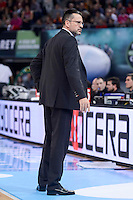 Valencia Basket's coach Pedro Martinez during Quarter Finals match of 2017 King's Cup at Fernando Buesa Arena in Vitoria, Spain. February 19, 2017. (ALTERPHOTOS/BorjaB.Hojas)