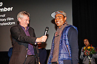 Amsterdam, 21 november 2014<br /> International Documentary Filmfestival Amsterdam<br /> IDFA 2014<br /> Solo - Out of a Dream<br /> Director Jos de Putter and star soccer player Leonardo<br /> Photo by Felix Kalkman