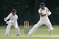 H Kazmi in batting action for Ilford during Wanstead and Snaresbrook CC vs Ilford CC, Shepherd Neame Essex League Cricket at Overton Drive on 17th June 2017