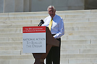 August 24, 2013  (Washington, DC)   Rep. Steny Hoyer speaks to a crowd of thousands on the grounds of the Lincoln Memorial in the District of Columbia during the 50th anniversary of the 1963 March on Washington August 24, 2013.  (Photo by Don Baxter/Media Images International)