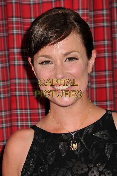 "KIM RHODES .""Forever Plaid"" 20th Anniversary Special Event held at Club Nokia LA Live, Los Angeles, CA , USA, 9th July 2009..portrait headshot black gold necklace smiling spider .CAP/ADM/BP.©Byron Purvis/Admedia/Capital Pictures"