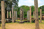 Standing Buddha statue in Atadage building in the Quadrangle, UNESCO World Heritage Site, the ancient city of Polonnaruwa, Sri Lanka, Asia