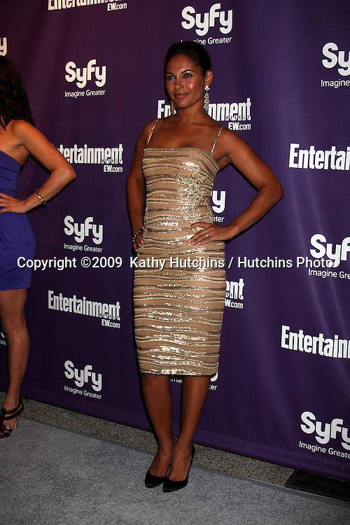 Salli Richarson-Whitfield arriving at the SyFy / Entertainment Weekly Party at the Hotel Solamar J6 Bar in San Diego, CA on July 25, 2009.©2009  Kathy Hutchins / Hutchins Photo....