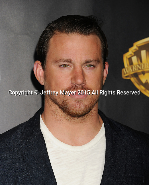 LAS VEGAS, CA - APRIL 21: Actor Channing Tatum  arrives at Warner Bros. Pictures Invites You to ?The Big Picture at The Colosseum at Caesars Palace during CinemaCon, the official convention of the National Association of Theatre Owners, on April 21, 2015 in Las Vegas, Nevada.