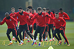 Michael Carrick of Manchester United during the UEFA Europa League training at the AON Carrington training complex. Photo credit should read: Philip Oldham/Sportimage