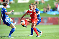Boyds, MD - Saturday August 12, 2017: Morgan Andrews Mallory Pugh, Allysha Chapman during a regular season National Women's Soccer League (NWSL) match between the Washington Spirit and The Boston Breakers at Maureen Hendricks Field, Maryland SoccerPlex.