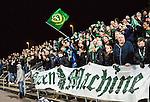S&ouml;dert&auml;lje 2015-10-05 Fotboll Superettan Syrianska FC - J&ouml;nk&ouml;pings S&ouml;dra :  <br /> J&ouml;nk&ouml;ping S&ouml;dras supportrar med en flagga under matchen mellan Syrianska FC och J&ouml;nk&ouml;pings S&ouml;dra <br /> (Foto: Kenta J&ouml;nsson) Nyckelord:  Syrianska SFC S&ouml;dert&auml;lje Fotbollsarena J&ouml;nk&ouml;ping S&ouml;dra J-S&ouml;dra supporter fans publik supporters