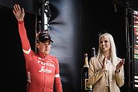 Podium: <br /> <br /> 2nd place finisher Mads Pedersen (DEN/Trek Segafredo)<br /> <br /> 102nd Ronde van Vlaanderen 2018<br /> 1day race: Antwerp &rsaquo; Oudenaarde - BEL (265k)