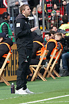 17.03.2019, BayArena, Leverkusen, GER, 1. FBL, Bayer 04 Leverkusen vs. SV Werder Bremen,<br />  <br /> DFL regulations prohibit any use of photographs as image sequences and/or quasi-video<br /> <br /> im Bild / picture shows: <br /> Florian Kohfeldt Trainer / Headcoach (Werder Bremen)<br /> <br /> Foto © nordphoto / Meuter