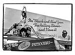 Rolling Stones billboard Black and Blue with graffiti circa