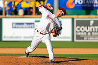 Wisconsin Timber Rattlers pitcher Zack Brown (17) during game one of a Midwest League doubleheader against the Kane County Cougars on June 23, 2017 at Fox Cities Stadium in Appleton, Wisconsin.  Kane County defeated Wisconsin 4-3. (Brad Krause/Krause Sports Photography)