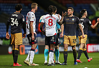 Players from both teams shake hands at the end of the match<br /> <br /> Photographer Andrew Kearns/CameraSport<br /> <br /> The EFL Sky Bet Championship - Bolton Wanderers v Sheffield Wednesday - Tuesday 12th March 2019 - University of Bolton Stadium - Bolton<br /> <br /> World Copyright © 2019 CameraSport. All rights reserved. 43 Linden Ave. Countesthorpe. Leicester. England. LE8 5PG - Tel: +44 (0) 116 277 4147 - admin@camerasport.com - www.camerasport.com