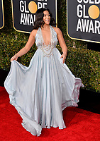 LOS ANGELES, CA. January 06, 2019: Gina Rodriguez at the 2019 Golden Globe Awards at the Beverly Hilton Hotel.<br /> Picture: Paul Smith/Featureflash