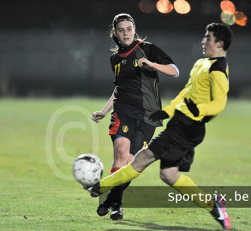 Belgium Dames U19 - selectie brabant jongens U15 :  Sheila Broos.foto DAVID CATRY / Vrouwenteam.be