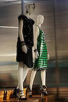 CATHERINE MARTIN, MIUCCIA PRADA presents an exhibition of costumes from The Great Gatsby movie in Prada, Soho, NYC. May 3 2013