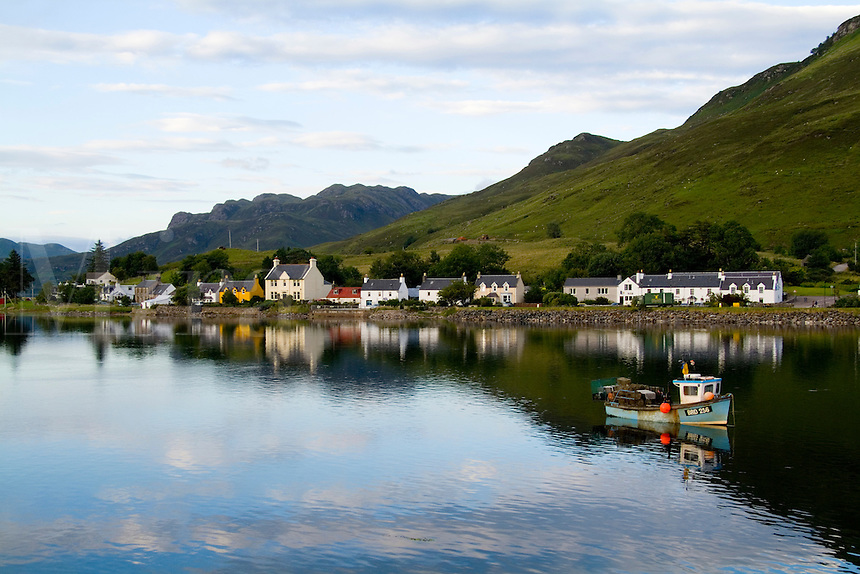 Village of Dornie, Western Highlands, Scotland