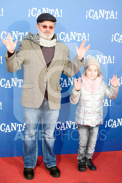 "Pablo Carbonell attends to the premiere of the film ""¡Canta!"" at Cines Capitol in Madrid, Spain. December 18, 2016. (ALTERPHOTOS/BorjaB.Hojas)"