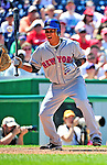 4 July 2010: New York Mets infielder Ruben Tejada in action against the Washington Nationals at Nationals Park in Washington, DC. The Mets defeated the Nationals 9-5, splitting their 4-game series. Mandatory Credit: Ed Wolfstein Photo