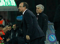 Rafael Benitez SSC Napoli and Genoa CFC   at San Paolo stadium in Naples, Feburary 24 , 2014