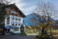 Germany, Bavaria, Swabia, Upper Allgaeu, resort Bad Hindelang, district Bad Oberdorf: Hotel Prinz-Luitpold-Bad | Deutschland, Bayern, Schwaben, Oberallgaeu, Bad Hindelang, Ortsteil Bad Oberdorf: Hotel Prinz-Luitpold-Bad