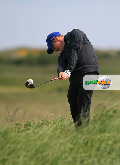 Derek Downie (Sutton) on the 10th tee during the 2nd round of the East of Ireland Amateur Open Championship 2013 Co Louth Golf club 2/6/13<br /> Picture:  Thos Caffrey / www.golffile.ie