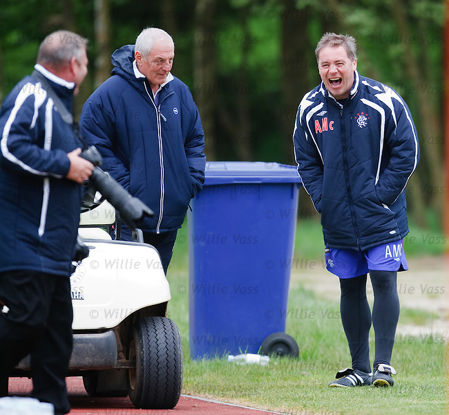 Ally McCoist in jovial mood with the snappers