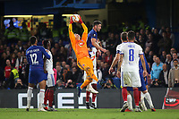 Mol Vidi goalkeeper, Tomas Tujvel makes a fine save during Chelsea vs MOL Vidi, UEFA Europa League Football at Stamford Bridge on 4th October 2018