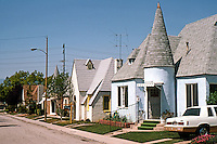 """Redlands CA: Normandy Court, c. 1925. 15 small single-family cottages """"almost dollhouse in scale"""".  Photo '87."""