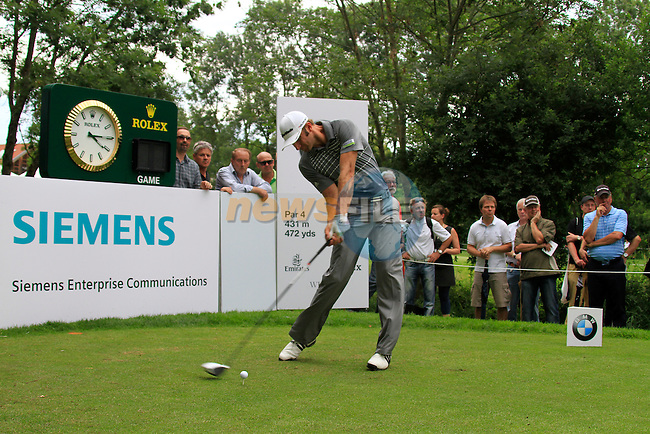 Dustin Johnson (USA) in action on the 10th tee during the Pro-Am Day of the BMW International Open at Golf Club Munchen Eichenried, Germany, 22nd June 2011 (Photo Eoin Clarke/www.golffile.ie)