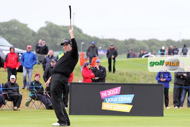Shane Lowry (IRL) on Day 4 of the 2012 Irish Open at Royal Portrush Golf Club, Portrush, Co.Antrim, 1/7/12...(Photo Jenny Matthews/www.golffile.ie)