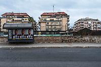 Roma 27 Ottobre, 2017. Scritte fasciste sui muri di Ostia