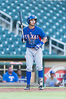 AZL Rangers third baseman Jonathan Ornelas (10) at bat during an Arizona League playoff game against the AZL Indians 1 at Goodyear Ballpark on August 28, 2018 in Goodyear, Arizona. The AZL Rangers defeated the AZL Indians 1 7-4. (Zachary Lucy/Four Seam Images)