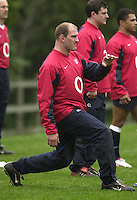 12/02/2004 Six Nations Rugby England Training- Pennyhill Park- Bagshot.Lawrence Dallaglio, during the morning training session. .   [Mandatory Credit, Peter Spurier/ Intersport Images].