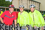 Pat Garvey, Jack Tracey and Tony O'Leary Killarney at the Ring of Kerry cycle in Killarney Saturday morning.