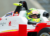 Mick Schumacher (CHE) of Prema Theodore Racing during the F3 European race during the 2018 Silverstone - FIA World Endurance Championship at Silverstone Circuit, Towcester, England on 18 August 2018. Photo by Vince  Mignott.