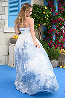 """Lily James<br /> arriving for the """"Mama Mia! Here We Go Again"""" World premiere at the Eventim Apollo, Hammersmith, London<br /> <br /> ©Ash Knotek  D3415  16/07/2018"""