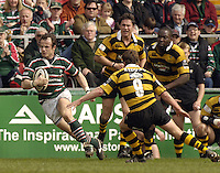 Leicester, ENGLAND, Audtin Healey, running across field, Guinness Premiership Rugby,  Leicester Tigers vs London Wasps © Peter Spurrier/Intersport-images.com.