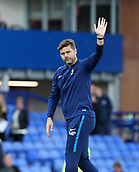 9th September 2017, Goodison Park, Liverpool, England; EPL Premier League Football, Everton versus Tottenham; Mauricio Pochettino, manager of Tottenham waves to the visiting fans as they chant his name after the final whistle