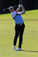 Richard McEvoy (ENG) plays his 2nd shot on the 5th hole during Saturday's Round 3 of the 2018 Turkish Airlines Open hosted by Regnum Carya Golf &amp; Spa Resort, Antalya, Turkey. 3rd November 2018.<br /> Picture: Eoin Clarke | Golffile<br /> <br /> <br /> All photos usage must carry mandatory copyright credit (&copy; Golffile | Eoin Clarke)