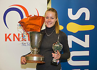 Rotterdam, The Netherlands, March 20, 2016,  TV Victoria, NOJK 14/18 years, Winner girls 18 years:  Nina Kruijer (NED)<br /> Photo: Tennisimages/Henk Koster