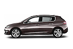 Car Driver side profile view of a 2015 Peugeot 308 Feline 5 Door Hatchback Side View