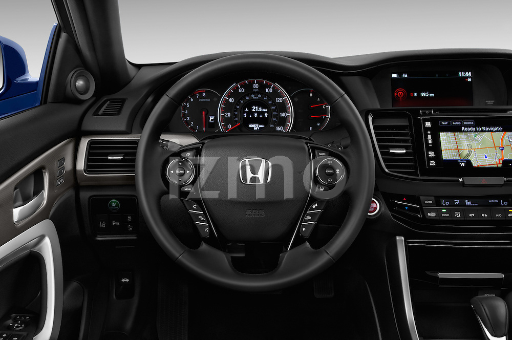 Car pictures of steering wheel view of a 2016 Honda Accord Touring 2 Door Coupe Steering Wheel