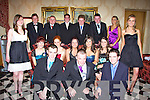 BALL: Having a great time at the CBS The Green Debs Ball in Ballyroe Heights Hotel, Tralee, on Wednesday night. Front l-r: Liam Cleary, James O'Connor and Brian Hall. Middle row l-r: Lizzy MacKenzie, Karen O'Mahony, Sarah Mullins, Debra Duggan, Aoife Counihan, Lisa Culloty, Niamh Dobbelaar and Aine Quane. Back l-r: Fergus Dennehy, Ben Galvin, Cathal O'Leary, Mike McCarthy and Davy McElligott.   Copyright Kerry's Eye 2008